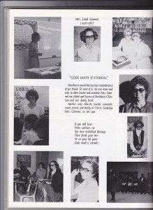 Page dedicated to my mom in the next yearbook - click to enlarge