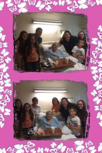 Top: my family with Aunt Dot Bottom: Four generations - Aunt Dot, her two daughters, me, my children